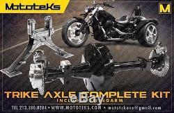 Harley Trike Axle Conversion Kit + Swingarm Fits Harley Dyna Models 2006-present