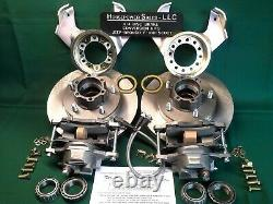 Jeep Drum-to-DISC BRAKE CONVERSION KIT withBig Rotors + Calipers, plus No Grinding