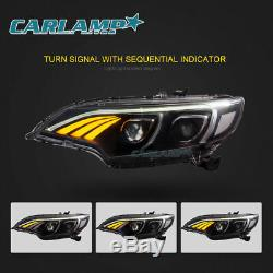 LED Benz Look Headlights Red Tail Lights Conversions For Honda Fit 2015-2017