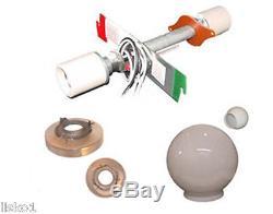 Marvy Barber Pole 2-LIGHT CONVERSION KIT Model Fits # 55, 66, 77 & 99 Poles