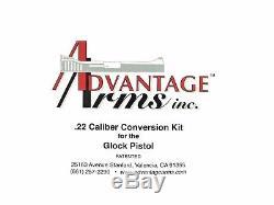 NEW Advantage Arms GEN 1-3 Fits Glock 19 23 Conversion kit 22 lr with Range Bag