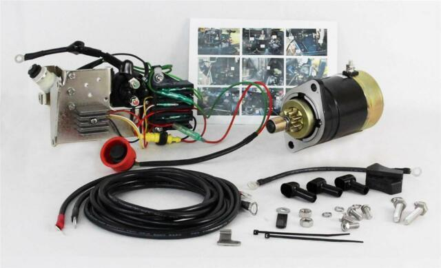 New Electric Starter Conversion Kit Fits Mercury 30hp Engines 346-76010-0a0