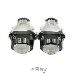 Pair 3.0'' Bi LED Projector Lens LED Headlight Conversion Kit Universal Fit