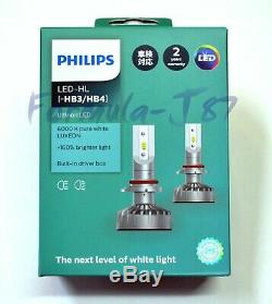 Philips Ultinon LED Kit White 6000K 9005 HB3 Two Bulbs Light DRL Daytime OE Fit