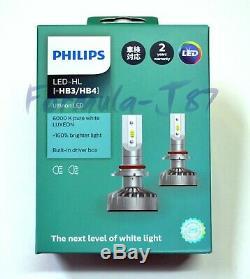 Philips Ultinon LED Kit White 6000K 9006 HB4 Two Bulbs Head Light Upgrade OE Fit