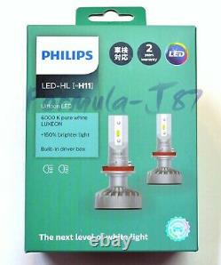 Philips Ultinon LED Kit White 6000K H11 Two Bulbs Fog Light Replace OE Fit Lamp