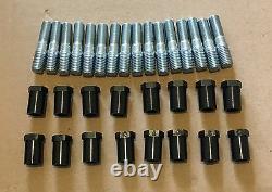 RAS3 Pontiac 421 GTO 389 Screw in Rocker Arm Studs and poly locks Kit