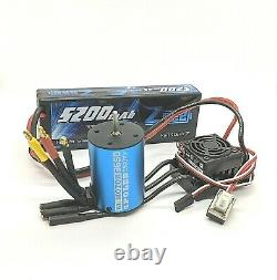 RC Brushless 60A ESC Conversion kit for 1/10 Vehicles Universal Fit + Battery UK