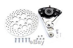 Rear Brake Caliper Conversion Kit and 11-1/2 Disc fits Harley Davidson, V-Twi