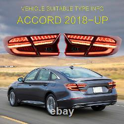 Red LED Taillight Fit 2018-2020 HONDA ACCORD Rear Brake Lamp Left+Right US Stock