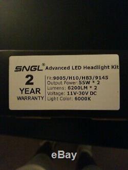SNGL Super Bright LED Headlight Conversion Kit Adjustable-Beam Bulbs 9005