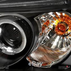Slim HID Conversion Kit+2001-2003 Fit Honda Civic LED Projector Headlights Black