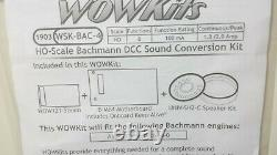 TCS WOW Kit 1903 WSK-BAC-4 Complete Sound Conversion Fits Bachmann Steam 4-4-0