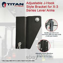 Titan Fitness Adjustable Bracket Conversion Kit for X-3 Series Lever Arms