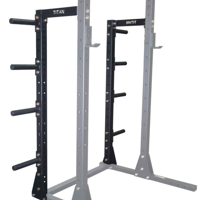 Titan X-3 Squat Stand Conversion Kit To Power Rack With Plate Holders