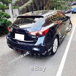 Unpainted Rear bumper conversion kit Fit for Mazda 3 Axela Hatchback 2014-2018