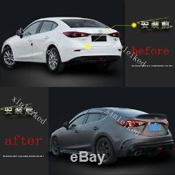 Unpainted rear bumper conversion kit fit For Mazda 3 Axela sedan 2017-2018