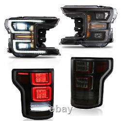 VLAND LED Headlight Taillight Fit Ford F-150 2018 2019 Replacement Turn Lamp Kit