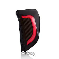 VLAND Modded BLACK CLEAR LED Taillights withLED LIGHTS for 15-19 Honda Fit