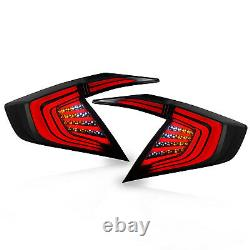 VLAND Modded SMOKED LED Tail Lights Assembly fit for 2016-2017 Honda Civic