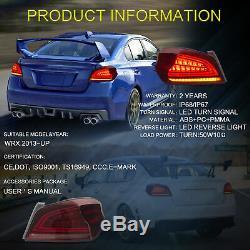 Vland Tail lights Assembly Fit 2015-2020 Subaru WRX / STI LED Signal Lamp Pair