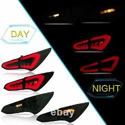 Vland Tail lights Fit 2013-2017 Hyundai Santafe Smoked Set of Pair LED Lamp